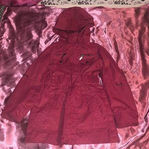 Super cute little girl rain jacket